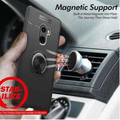 Bakeey 360 Adjustable Metal Ring Kickstand Magnetic PC Protective Case for Xiaomi Mi MIX 2