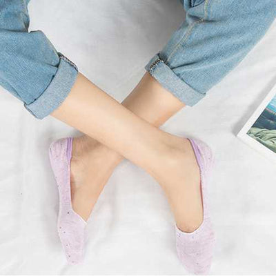 Cotton Invisible Breathable Low Cut Socks Non Skid Sock