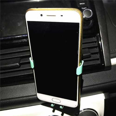 Universal Gravity Linkage  Auto Lock Car Mount Air Vent Holder for iPhone8 X Xiaomi Mobile Phone