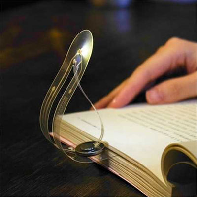 Creative Flexible Folding LED Clip On Reading Book Light  Battery Powered Bookmark Desk Lamp