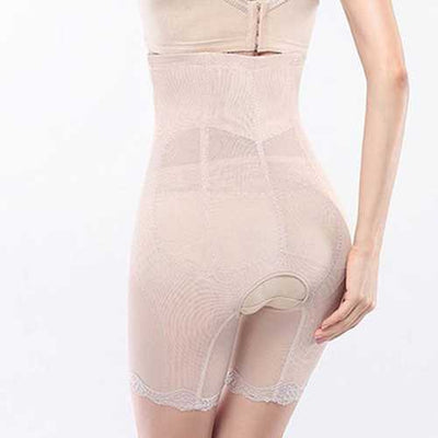 High Waist Front Buckle Open Crotch Breathable Shapewear