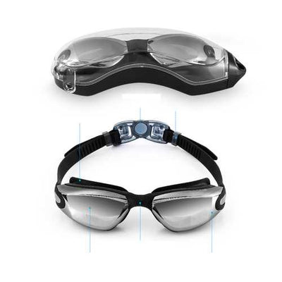 Anti-fog Swimming Goggles UV Protection Lenses Wide View Swim Glasses Adult Men Women