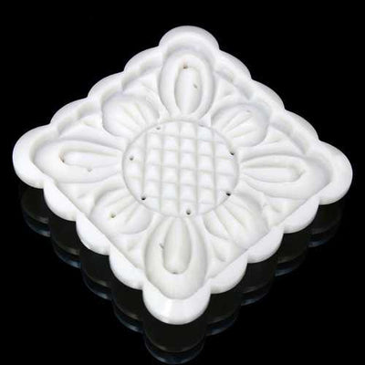 Square 125g Moonake Baking Mooncake Pastry Mold Biscuit Cake Hand Press Mould Flower Cooking DIY