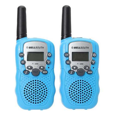 T-388 0.5W UHF Auto Multi-Channels Mini Radios Walkie Talkie Blue