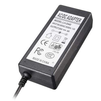 AC 100V-240V DC 24V 4A 96W Power Supply Charger Converter Adapter