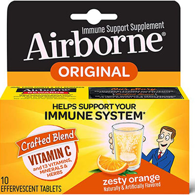 Effervescent Tablets (10 pcs a box), Glutenfree Immune Support Supplement and High in Antioxidants