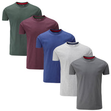 Load image into Gallery viewer, 5 Pack Crew Neck T-shirt