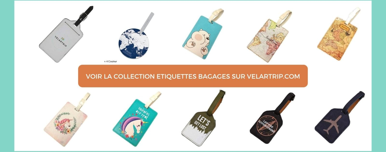 collection etiquettes bagages VelarTrip