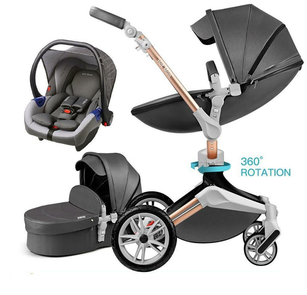 Baby Stroller 3 in 1 travel system with bassinet and car seat