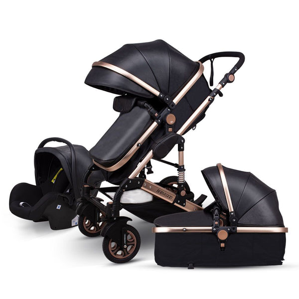 3 in 1 Luxurious Portable Travel Baby Stroller With Car Seat