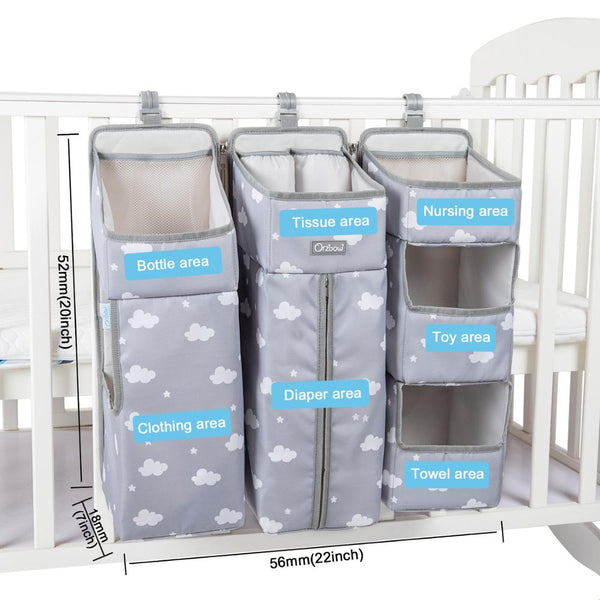 Baby Bed Organizer Hanging Bags