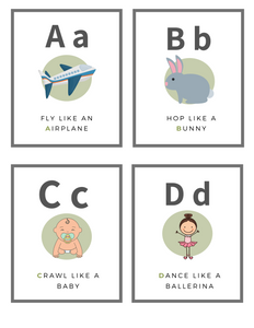 Letter Movement Cards