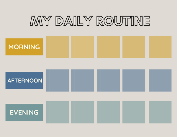 Daily Routine Chart Blue