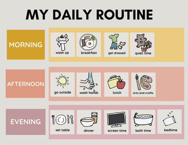 Daily Routine Chart Pink