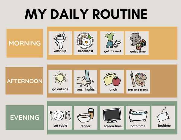 Daily Routine Chart Green