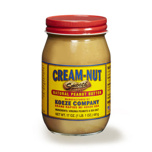 Cream-Nut, Smooth Natural Peanut Butter, 17 oz