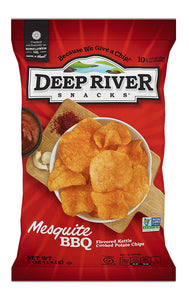 Deep River Snacks, Kettle Chips, Mesquite BBQ, 5 oz