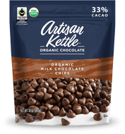 Artisan Kettle, Organic Chocolate Chips, Milk Chocolate, 10 oz