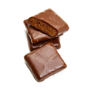 Kika's Treats, Caramelized Graham Crackers in Milk Chocolate, 4.5oz