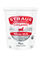 Straus Organic Plain Yogurt, Whole Milk, 2 Lbs