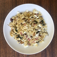Farmshop, Orzo Pasta Salad with Olives, Pickled Red Onions, Pine Nuts & Goats' Milk Feta, 8 oz