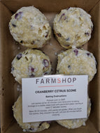 Farmshop Bakery, Frozen Cranberry Citrus Scones, 6 pk