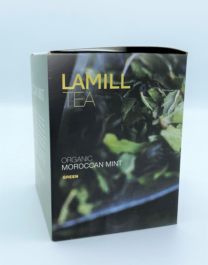 Lamill Tea, Organic Moroccan Mint, Green, 15 tea bags