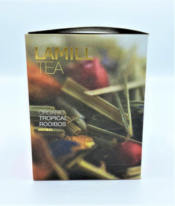 Lamill Tea, Organic Tropical Rooibos, Herbal, 15 tea bags