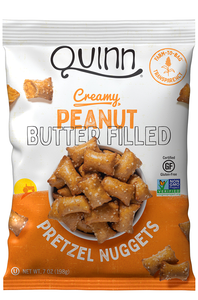 Quinn, Pretzel Nuggets, Peanut Butter Filled Nuggets, 7 oz