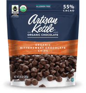 Artisan Kettle, Organic Chocolate Chips, Bittersweet, 10 oz