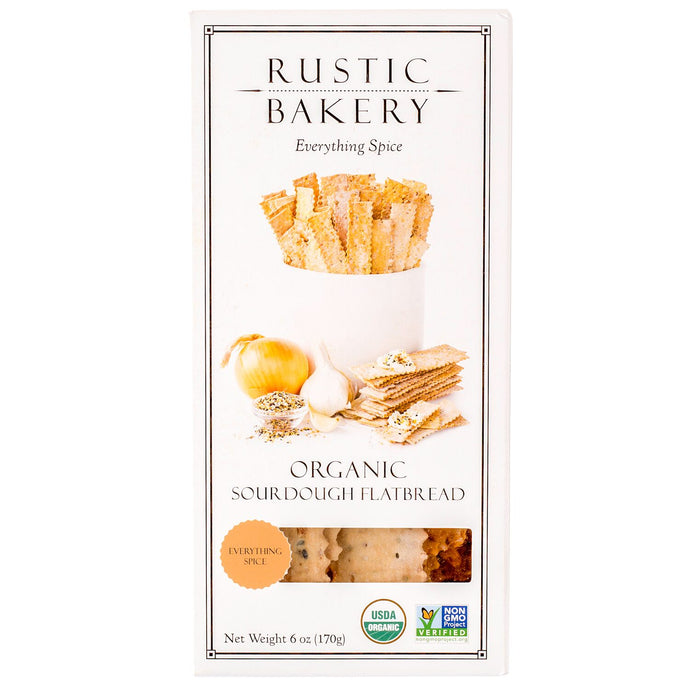 Rustic Bakery, Sourdough Flatbread, Everything Spice, Organic, 6 oz