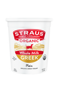 Straus Organic Greek Yogurt, Whole Milk, 2 Lbs