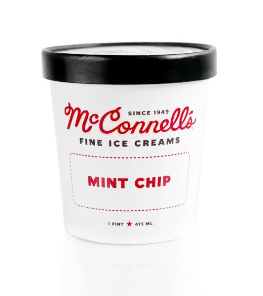 McConnells Fine Ice Cream, Mint Chip, 1 Pint
