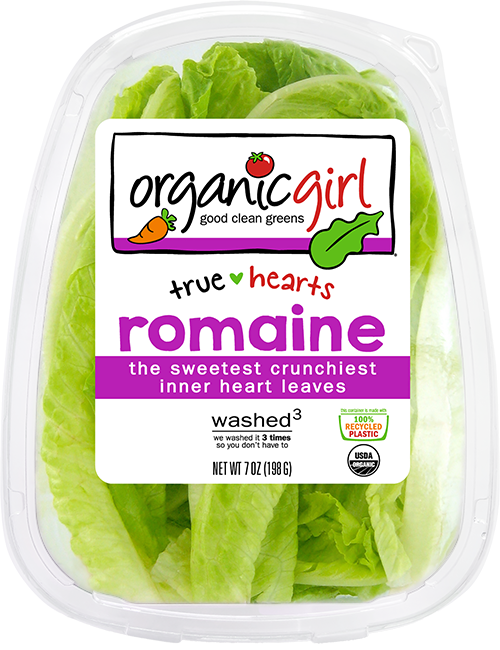 OrganicGirl, Romaine Heart Leaves, 7 oz