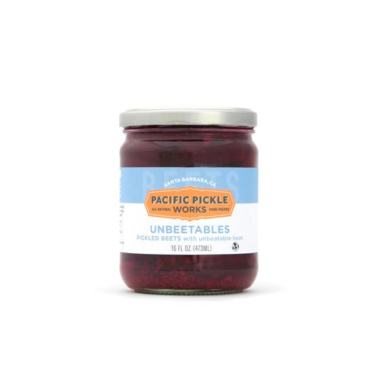 Pacific Pickle Works, Unbeetables, Pickled Beets with Unbeatable Heat, 16 oz