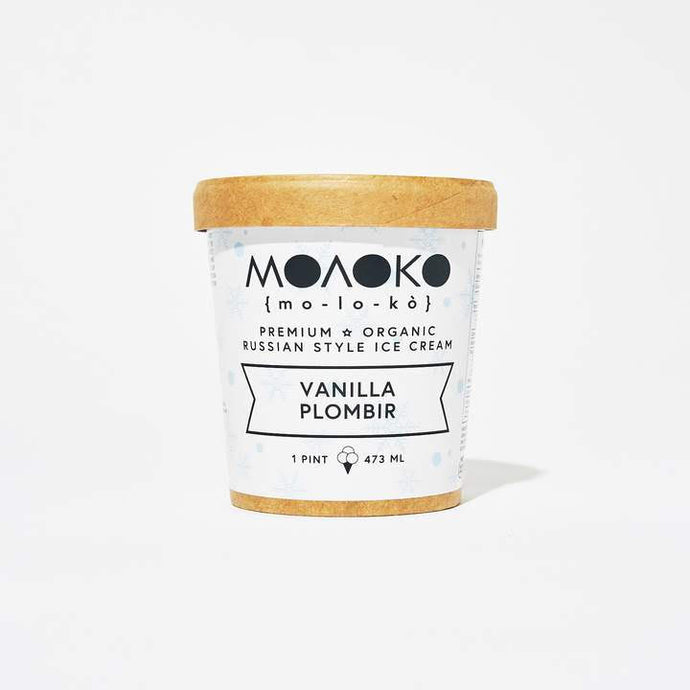 Moloko Ice Cream, Vanilla Plombir, 1 Pint