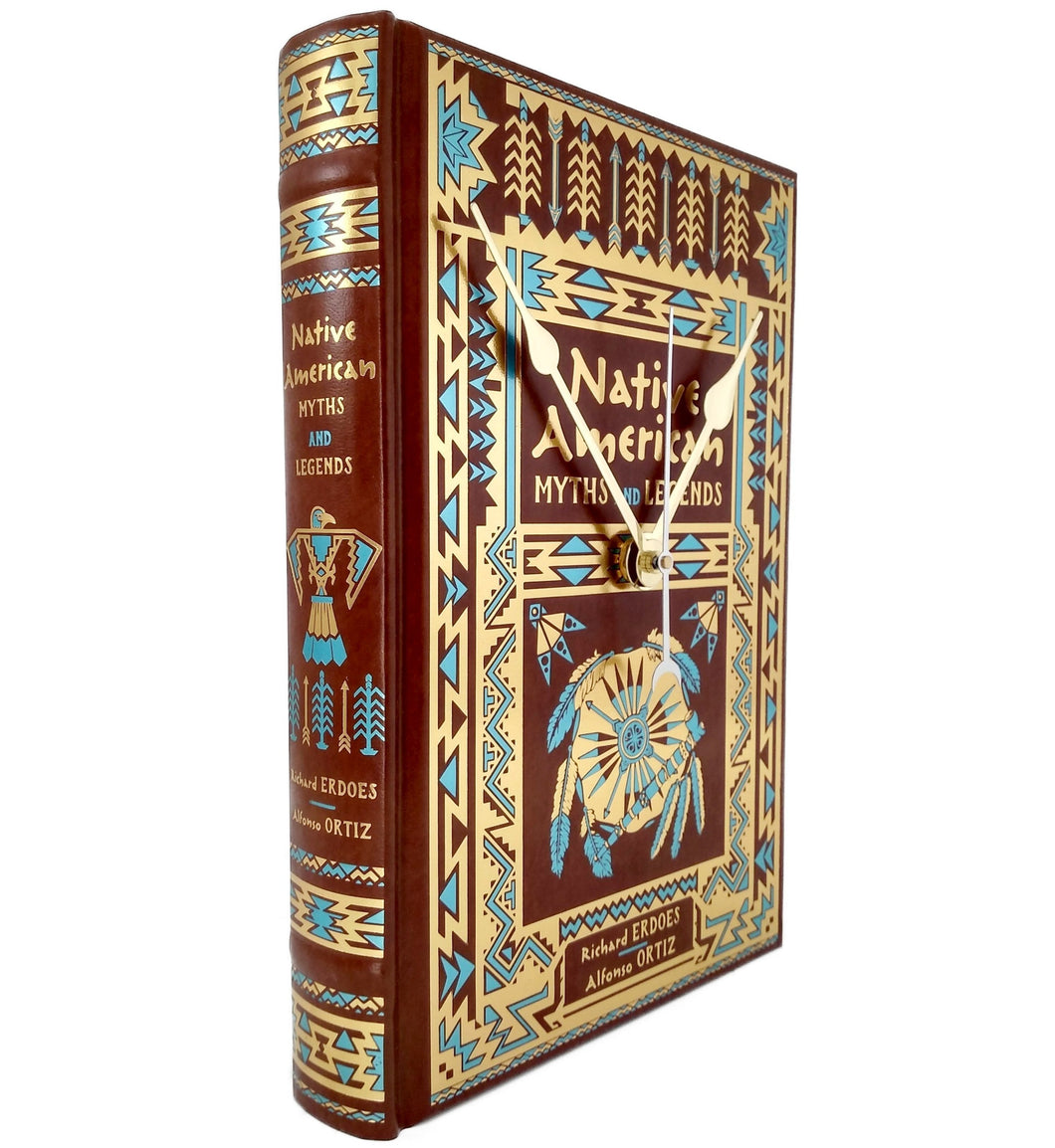 Native American Myths and Legends Book Clock