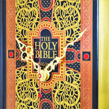 Load image into Gallery viewer, The Bible Leather Bound Book Clock
