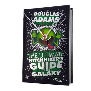 The Hitchhikers Guide to The Galaxy Book Clock