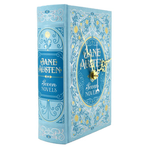 Jane Austen Seven Novels Leather Bound book clock