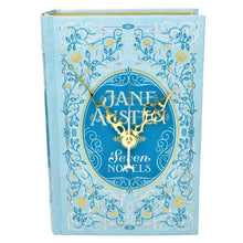 Load image into Gallery viewer, Jane Austen Seven Novels Leather Bound book clock