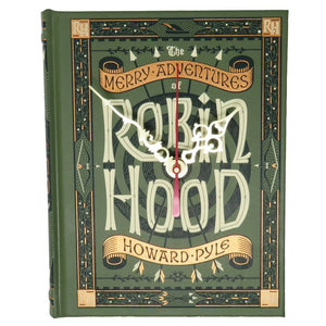 Robin Hood Leather Bound Book Clock