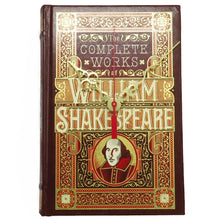 Load image into Gallery viewer, The Complete Works of William Shakespeare book clock