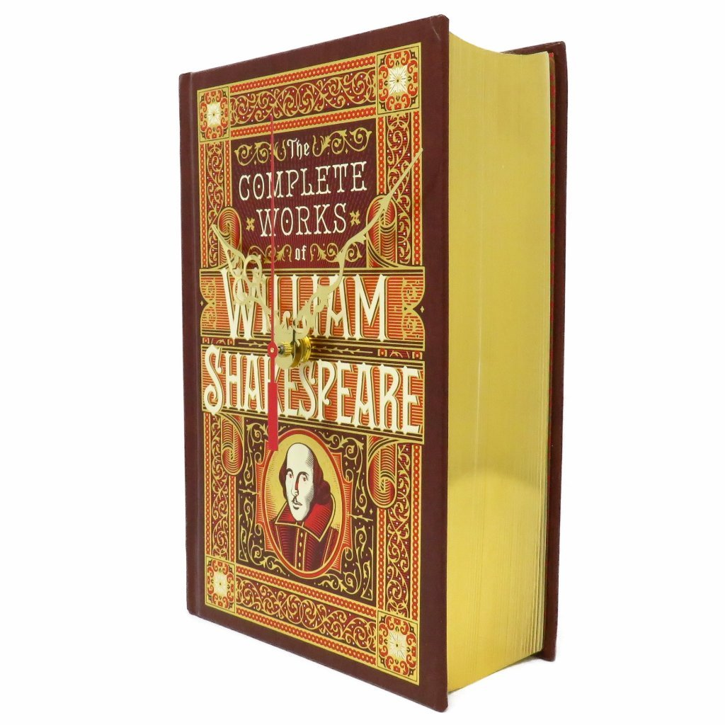 The Complete Works of William Shakespeare book clock