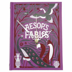 Aesop's Fables Leather Bound Book Clock