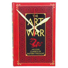 Load image into Gallery viewer, The Art of War Leather Bound Book Clock
