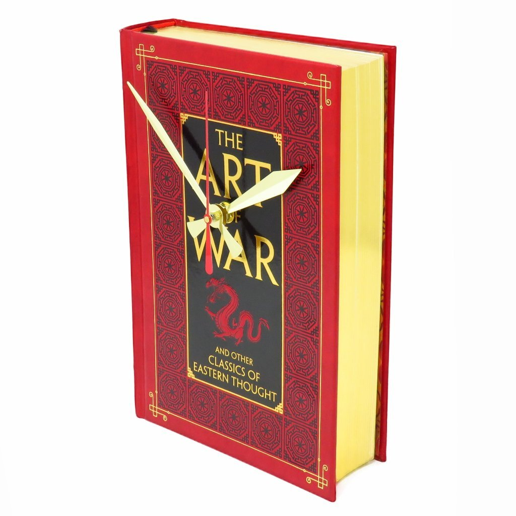 The Art of War Leather Bound Book Clock