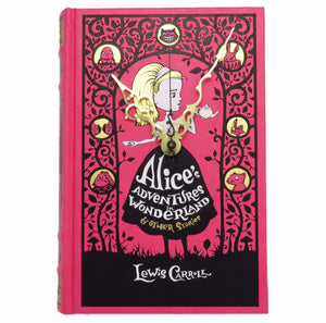 Alice In Wonderland Leather Bound Book Clock