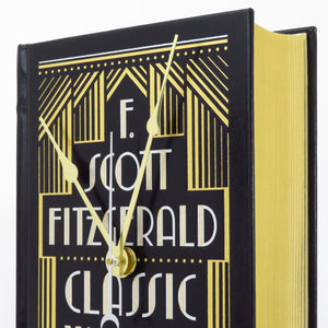 The Works of F. Scott Fitzgerald Leather Bound Book Clock