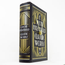 Load image into Gallery viewer, The Works of F. Scott Fitzgerald Leather Bound Book Clock